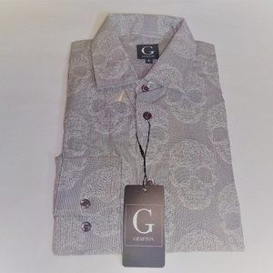Grafton Slim Fit Stretch Design Print Dress Shirt